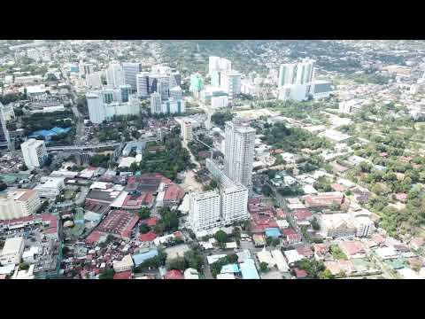 Aerial View of Cebu City. Cebu, Philippines.