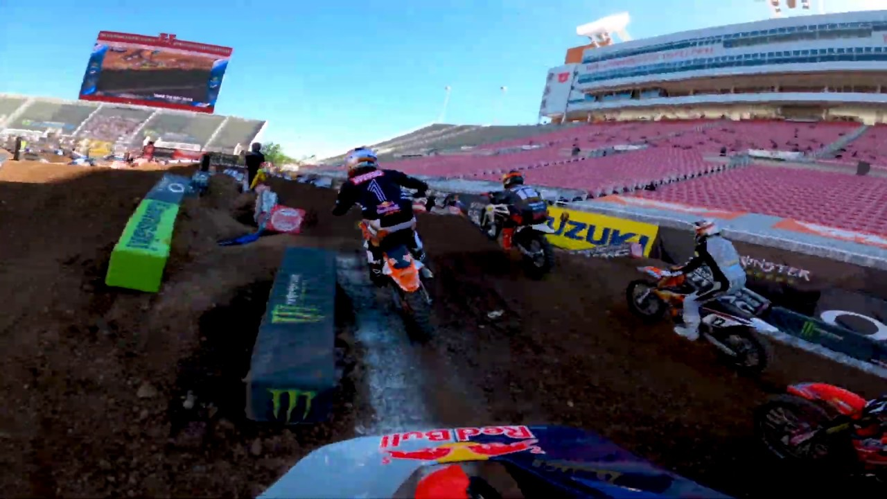 GoPro: Ken Roczen - 2020 Monster Energy Supercross - 450 Heat 1 Highlights - Salt Lake City 4