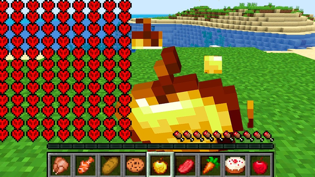 Paso Minecraft pero MI VIDA se DUPLICA al COMER 🍎😂 TimbaVk y Acenix