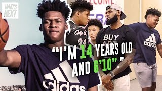 """I'm 14 And I'm Taller Than LeBron."" 8th Grader Jahzare Jackson Is 6'10"" & The Next SHAQ 😱"