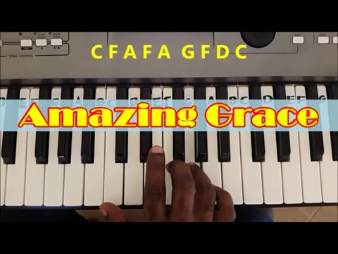 Amazing Grace Easy Piano Keyboard Tutorial (Right Hand)
