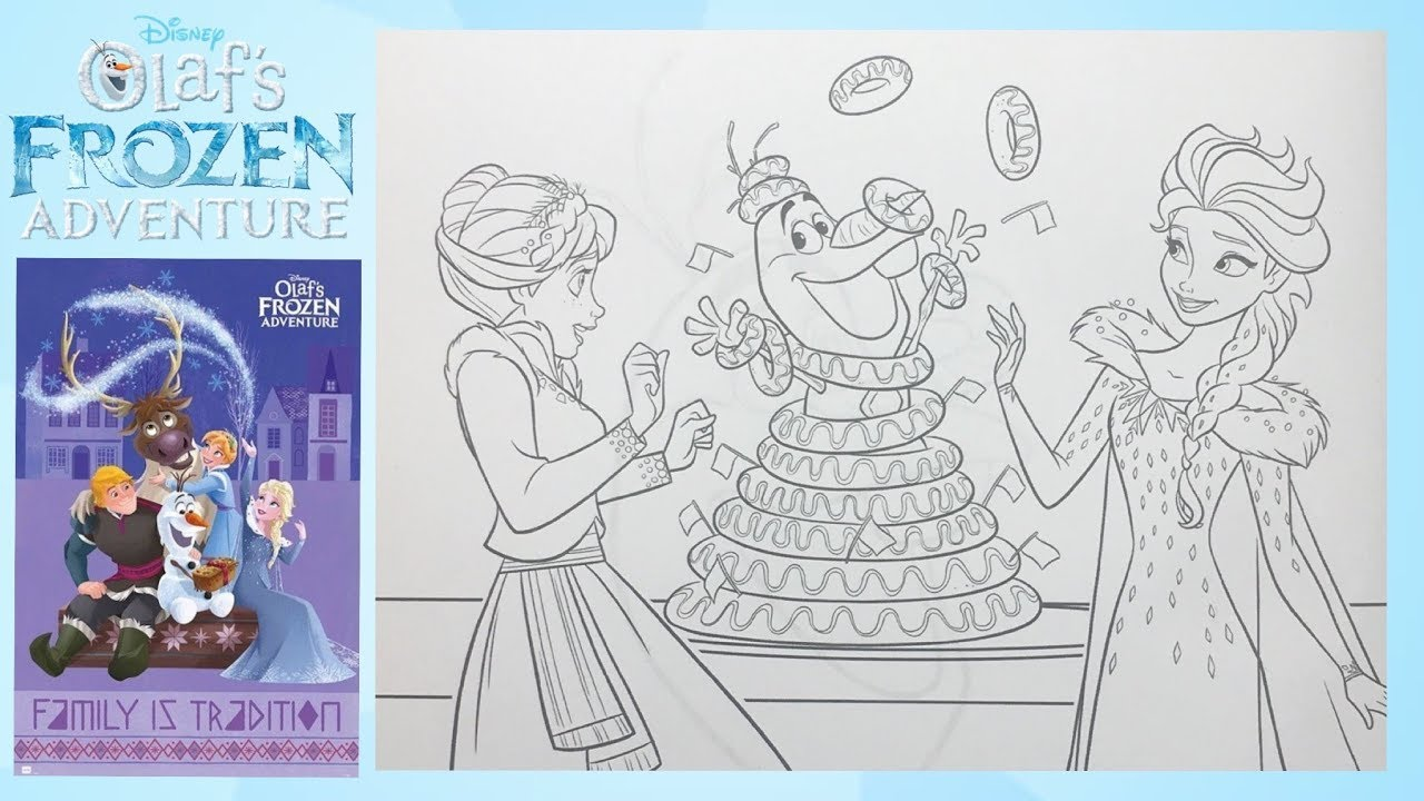 Coloring Pages Olafs Frozen Adventure Anna And Elsa For Kids How To