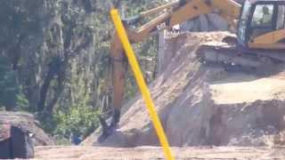 Fort Hamer Bridge Entry Ramp Construction  on October 15, 2015