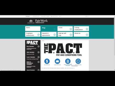 P A C T Pay Calculator - Find your award