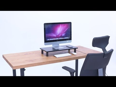 Putorsen Wood Monitor Stand TV PC Laptop Computer Screen Riser Built-in Wireless Charger(WCDS-001)