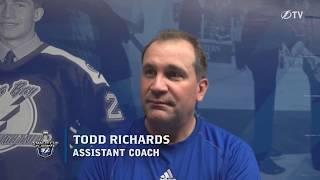Todd Richards -- Tampa Bay Lightning practice 04/24/2018