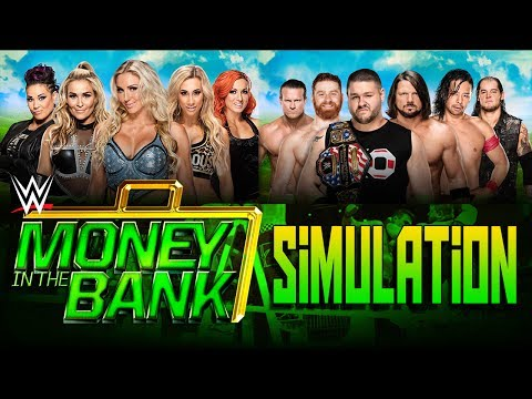 Money in the Bank 2017 - Men and Women's MITB Ladder Match - WWE 2K17 Simulation!