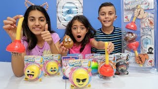 Sticky the Plunger Game Challenge! Family Kids Fun Game Night