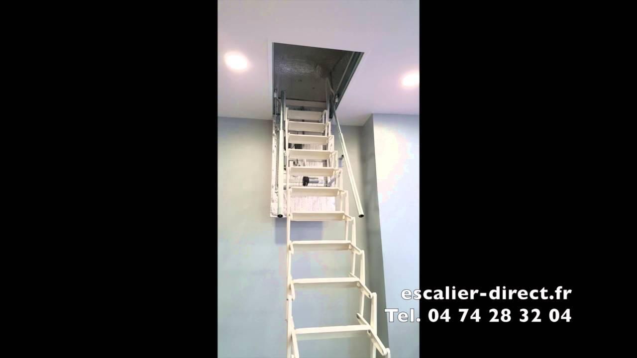 Escalier Escamotable Electrique Pour Acces Au Grenier Escalier Direct Youtube