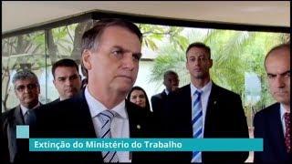 Jair Bolsonaro anuncia extinção do Ministério do Trabalho  - 08/11/18
