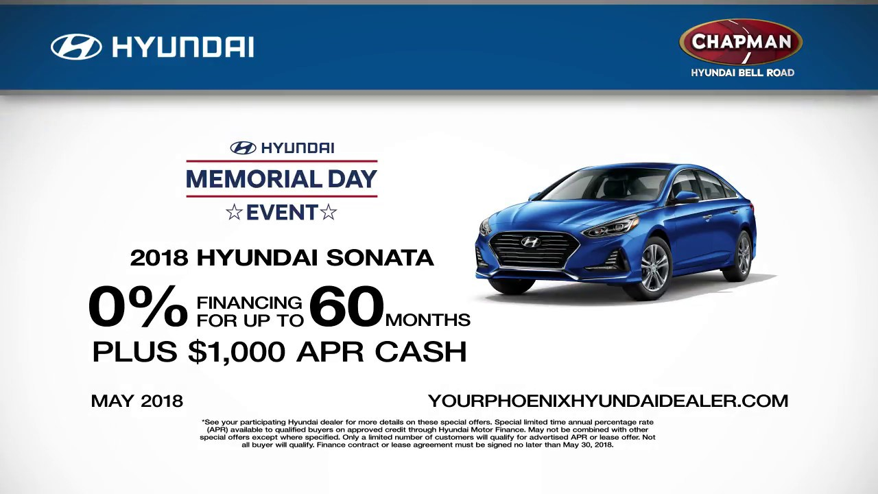 Chapman Hyundai   Sonata May 2018 Offers