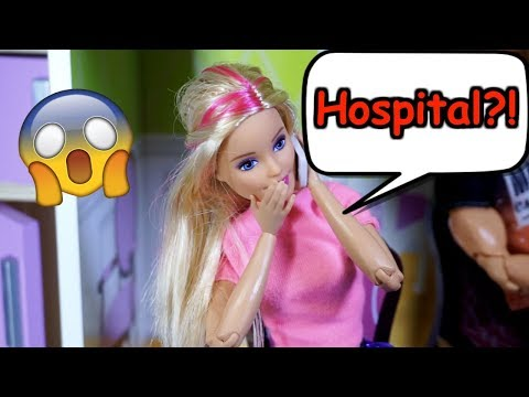 BARBIE And Ken Go To Hospital While Grandpa Babysits LOL SURPRISE DOLLS!