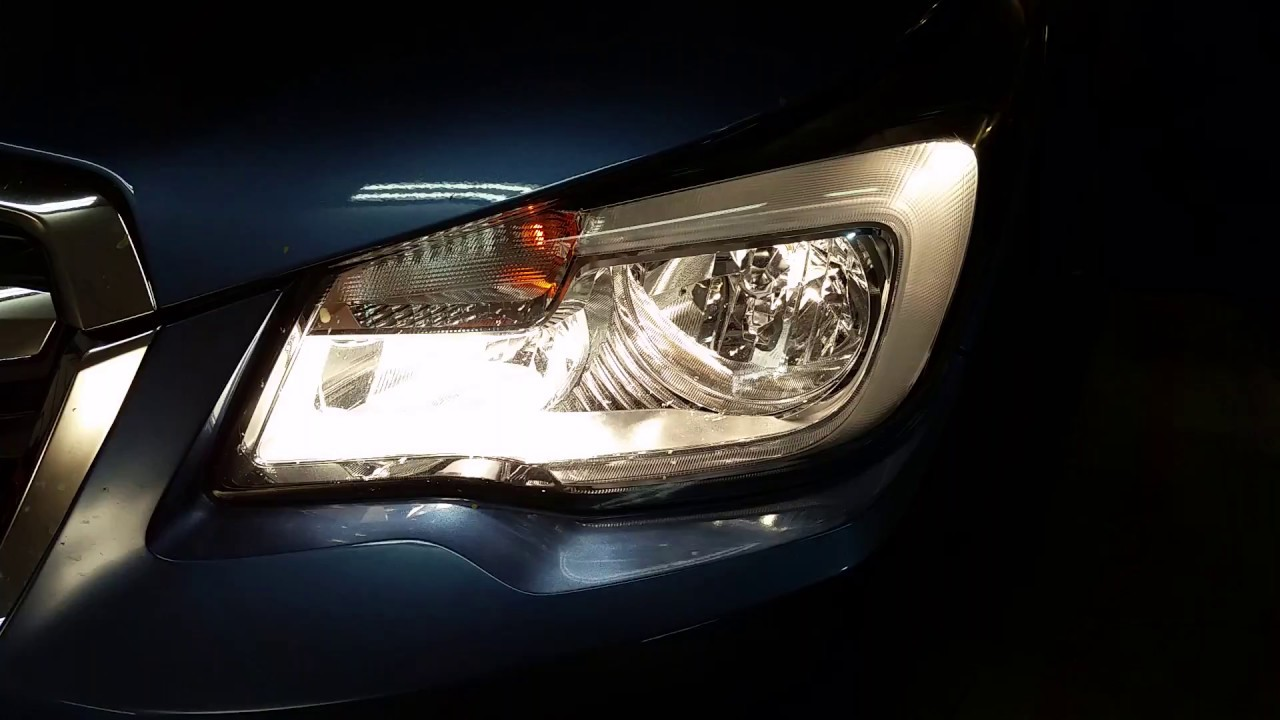 2017 2018 Subaru Forester Headlight Testing After Changing Burnt Out Light Bulbs
