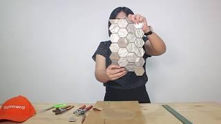 การตัดโมเสคแก้วผสมหิน | Glascera Mosaic