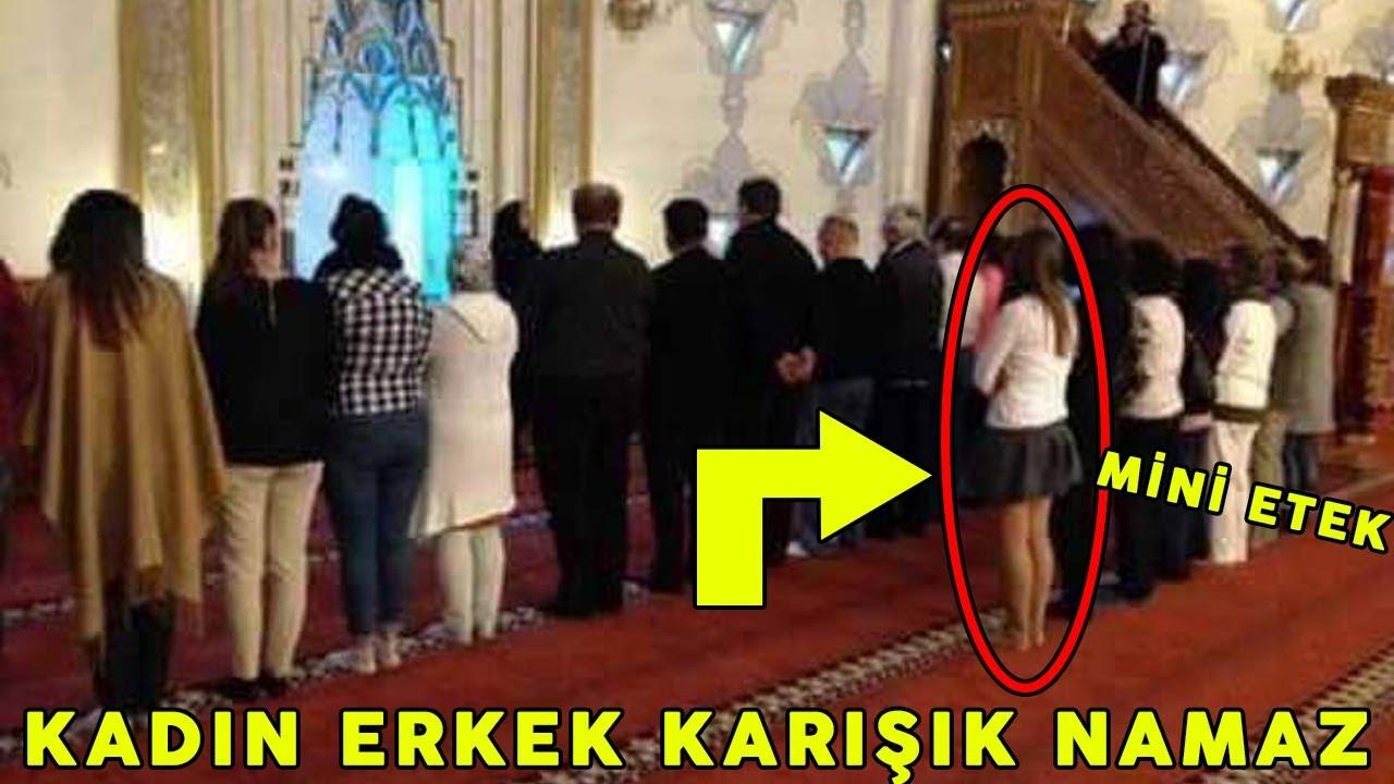 Kızlar mini etekle camiye girdiler ... Namazdan sonra caminin önünde onlara ne yapıldığını görün !!!