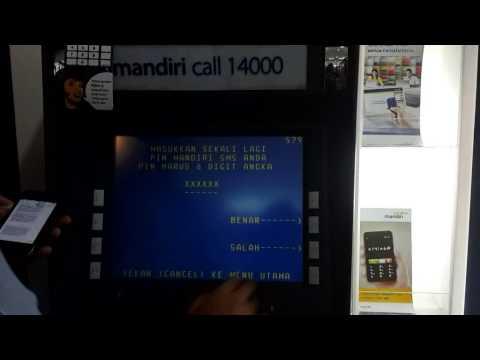 Cara daftar mobile banking Bank Mandiri di ATM