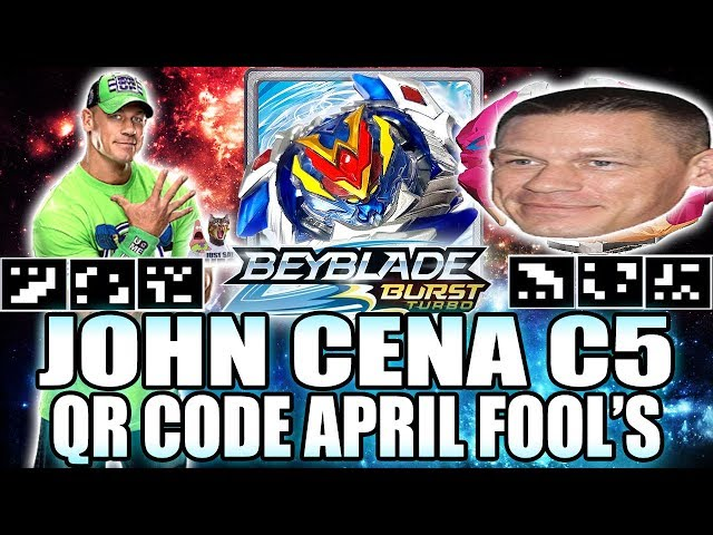 JOHN CENA C5 QR CODE! BEYBLADE BURST APP  APRIL FOOLS