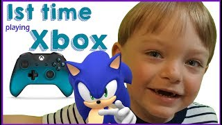 Playing Xbox for the first time