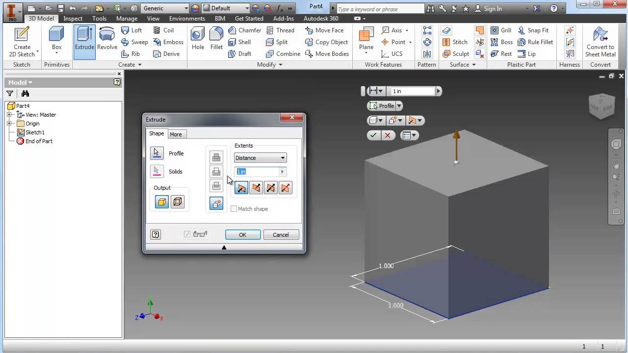 Using Autodesk Inventor to Create a 3D Model to 3D Print