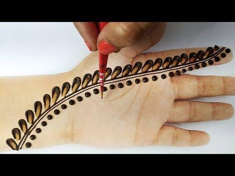 आसान तीज स्पेशल मेहँदी - बहुत सरल मेहँदी डिज़ाइन तीज त्यौहार के लिए - Stylish Mehndi Design for Hands