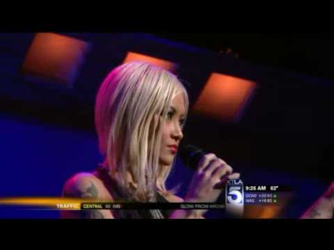 Tila Tequila Performs on KTLA