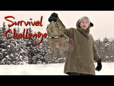 SOLO WINTER SURVIVAL!  Minimal Gear Overnight in a HUGE Snow Storm! 24 Hours in the Wilderness