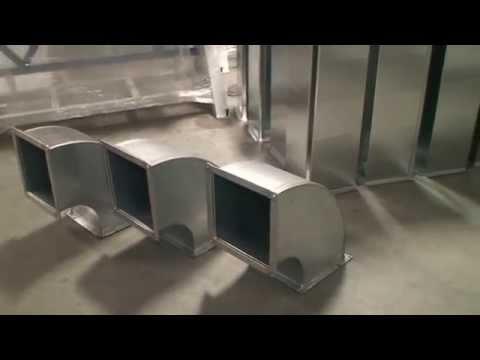 Комплекс для производства отводов прямоугольных воздуховодов с интегрированными фланцами TDF