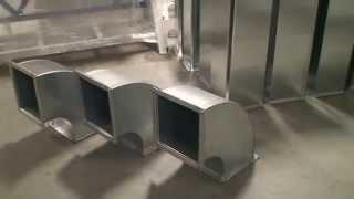 Комплекс для производства отводов прямоугольных воздуховодов с интегрированными фланцами TDF(Оборудование для производства отводов воздуховодов в прямоугольной системе вентиляции. Отводы изготавлив..., 2014-08-08T09:15:06.000Z)