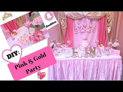 Pink and Gold Princess Party | DIY