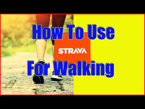 How to use Strava to record a walk. [GET FIT WITH WALKING NOW]