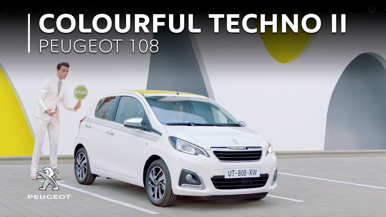 peugeot 108 x mika | colorful technology ii - youtube