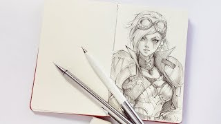 Sketching IV... errmm... VI from LEAGUE OF LEGENDS! - Patreon Series 08