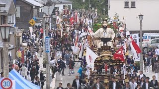 巡る山車、街道に彩り 豊漁祝う北海道の祭り
