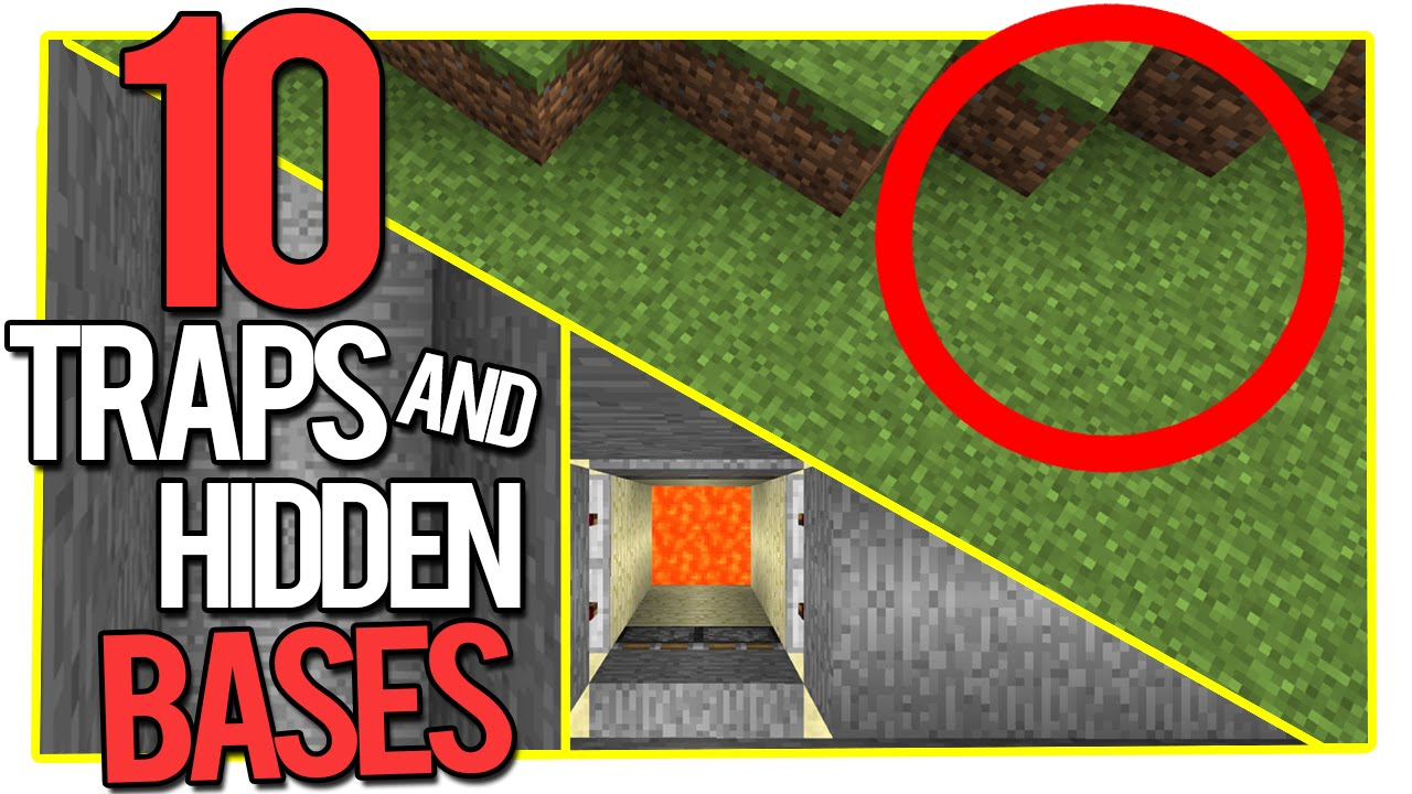 10 minecraft traps and hidden bases - youtube
