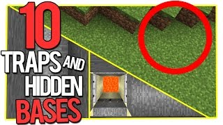 10 Minecraft Traps and Hidden Bases