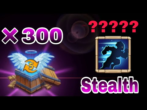Stealth | Rolling 300 Level-5 Talent Box | Crazy Session | Castle Clash