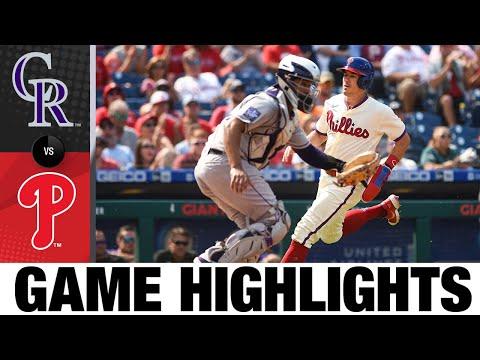 Rockies vs. Phillies Game Highlights (9/12/21)   MLB Highlights  
