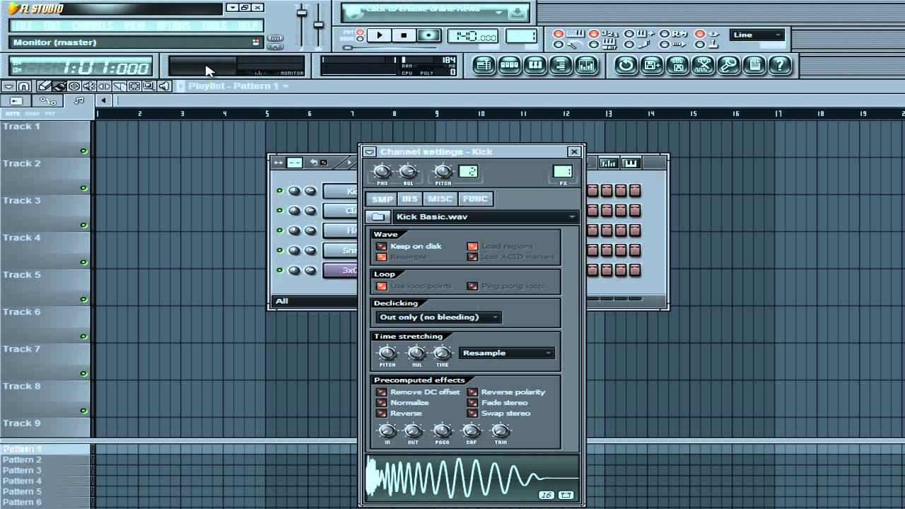 Fl studio 12 интерфейс