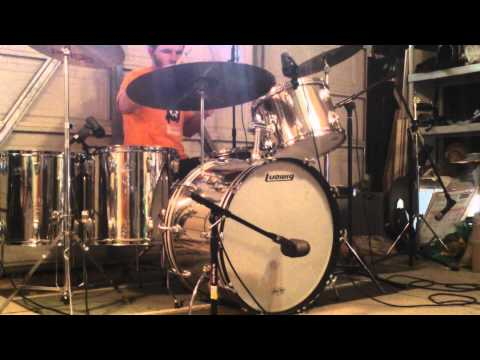 Led Zeppelin - Candy Store Rock (w/o Music) - Drum Cover - Vintage Ludwig Stainless Steel Kit