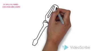 How to Draw a screwdriver / Как нарисовать отвертку