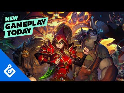 Hearthstone Mercenaries   New Gameplay Today