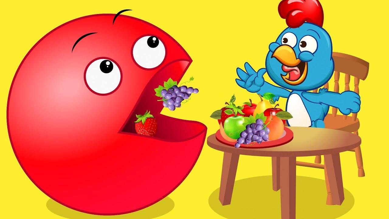 A Galinha Magricela - Juegos Arcade Con Frutas Dibujos animados para niños - Canciones infantiles