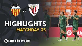 Highlights Valencia CF vs Athletic Club (0-2)