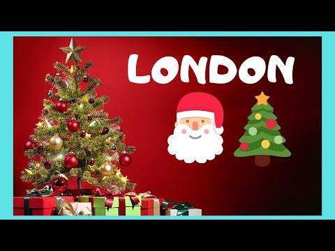 LONDON, Christmas carols and the Christmas Tree of TRAFALGAR SQUARE (England)