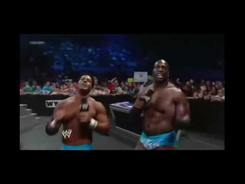 WWE: PTP (Titus O'Neal and Darren Young) dancing on Kaitlyn's song for 15minutes