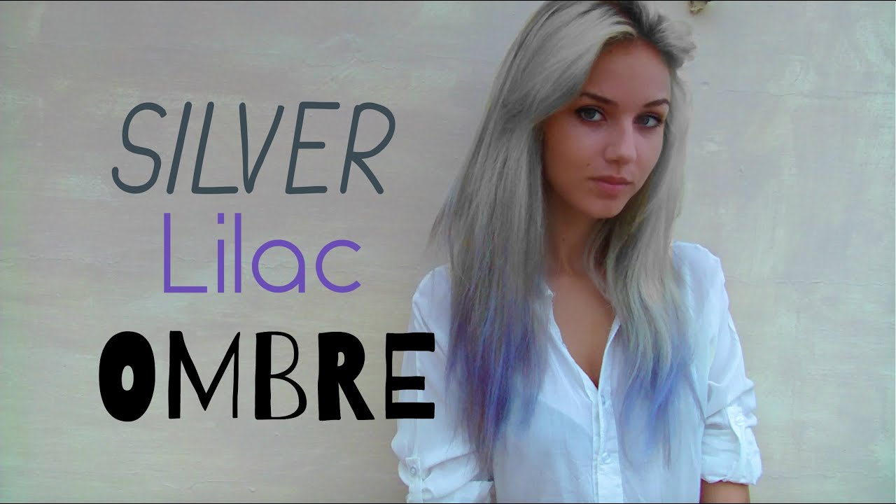 how to silver lilac ombre hair stella youtube