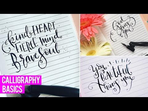 MODERN CALLIGRAPHY BASICS | BEST TOOLS & TIPS