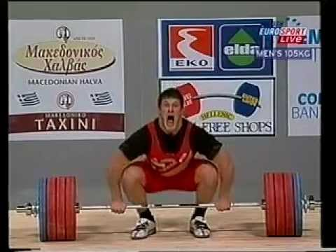 2002 World Weightlifting 105 Kg Clean and Jerk