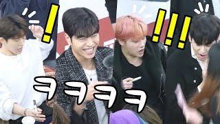 아이콘 iKON : 준회, 윤형의 장난에 멤버들 반응 JUNE, YH Prank, BI, Jay reaction : 팬사인회 Fansign : Edited fancam : 영등포