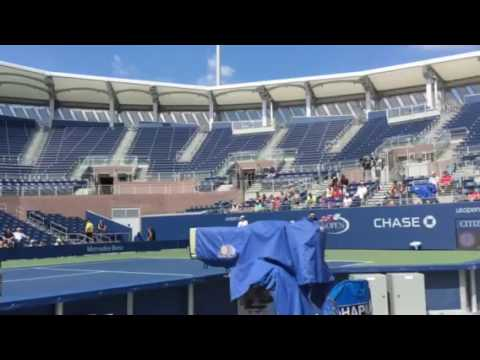Andy Murray Practices With Ivan Lendl Watching